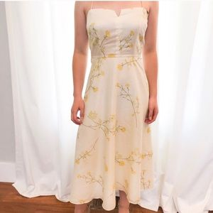 Pale yellow '50s/'60s vintage inspired dress